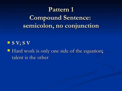 pattern complex sentence artof stylingsentencespowerpoint