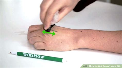 how to get tattoo pen off skin how to get pen off your skin 9 steps with pictures