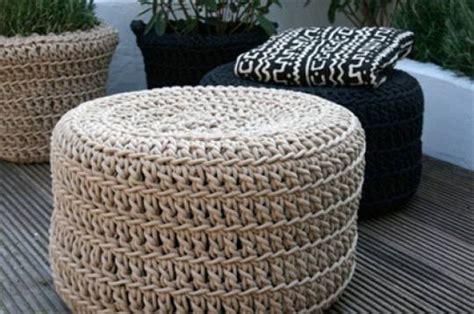 ottoman em ideas creativas para hacer con cuerdas de algod 243 n