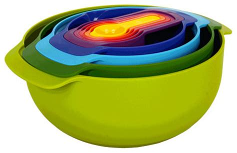 modern kitchen tools joseph joseph nest bowl set multicolor modern kitchen