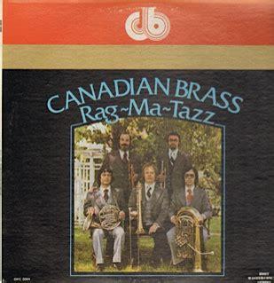 Canadian Brass Piringan Hitam Vinyl the canadian brass rag ma tazz vinyl lp album at discogs