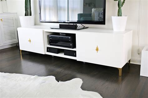 ikea white tv stand ikea restyle mid century tv stand a beautiful mess