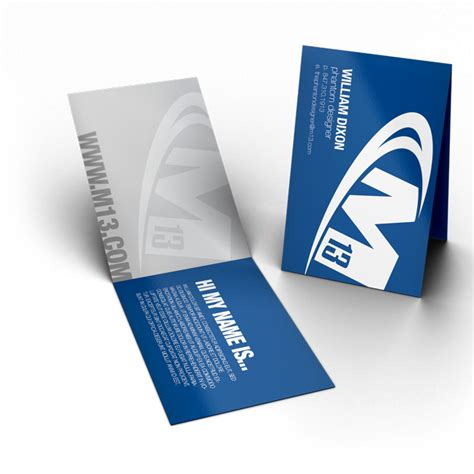 Folding Business Card Template by Foldable Business Card Printing M13 Graphics