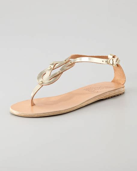 hercules sandals ancient sandals hercules knotted sandal platinum