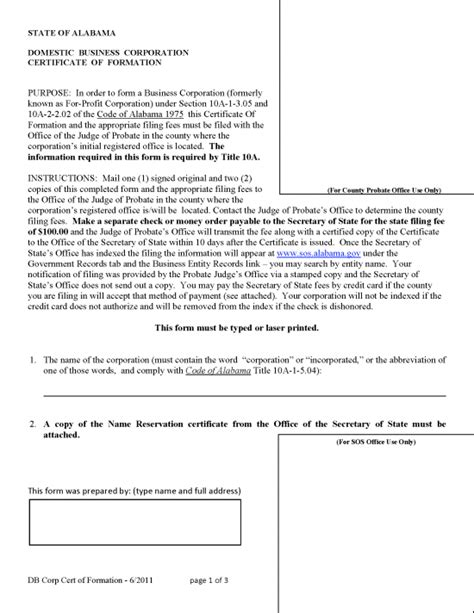 free article of incorporation template articles of incorporation template free aristocrat