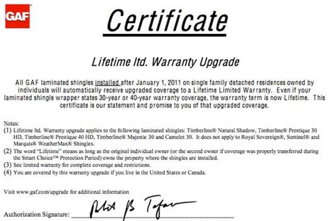 Gaf Announces Groundbreaking Lifetime Limited Warranty On All Of Its Laminated Roofing Shingles Roofing Labor Warranty Template