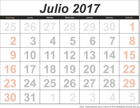 Calendario Julio 2017 Julio 2017 Calendario Calendarios Para Imprimir
