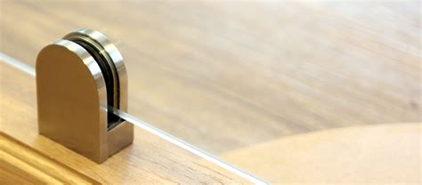 Contemporary Handrail Glass Brackets And Clamps From Jackson Woodturners