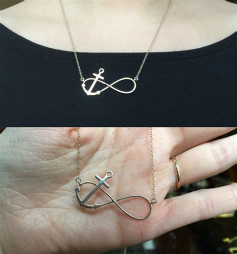 infinity and anchor necklace my everyday jewelry nadine