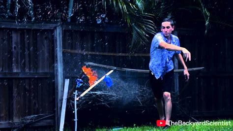 Backyard Scientist by The Backyard Scientist Explodes Propane Filled Balloons