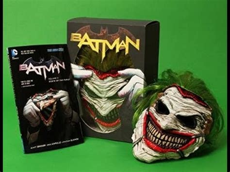 Unboxing Batman Death Of The Family Joker Mask And Book