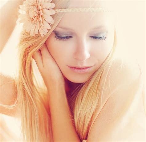 beautiful blonde face flower girl image 428684 on favim com