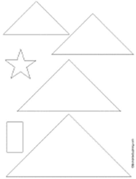 triangle template for christmas tree tree card enchanted learning software