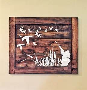 hunting home decor duck hunting wood sign hunters home decor