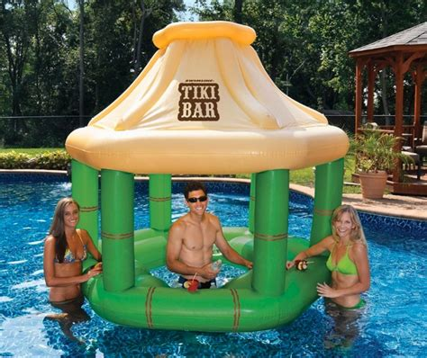 como jugar whatever floats your boat inflatable floating tiki swim up bar