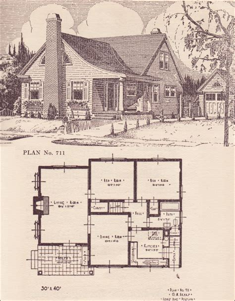 Home Plans Book by 1924 Modern Colonial Revival Cottage 1920s House Plans
