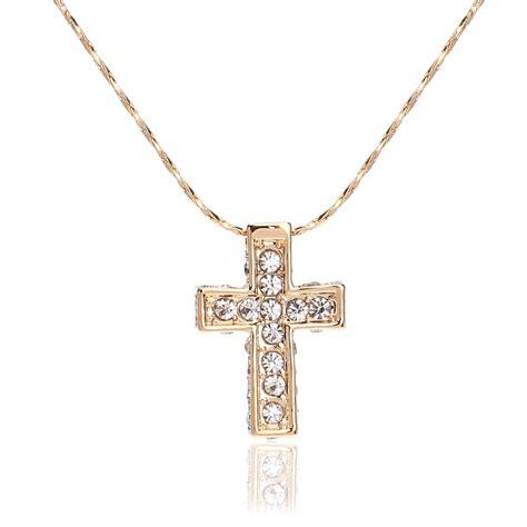 get cheap gold cross necklace aliexpress