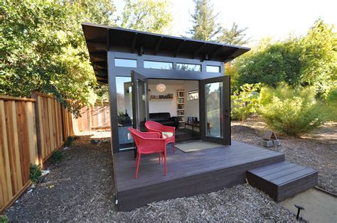 build backyard office studio shed photos modern prefab backyard studios