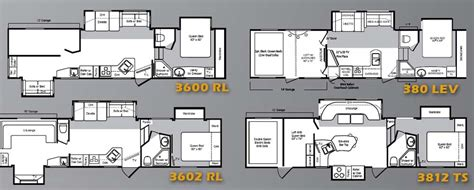 5th wheel toy haulers floor plans keystone raptor fifth wheel toy hauler floorplans large