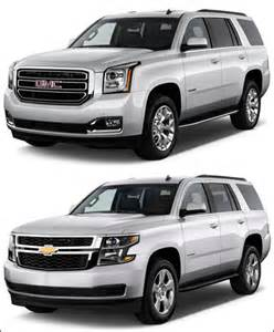 Chevrolet Tahoe Gmc Yukon Chevrolet Tahoe Vs Gmc Yukon Not The They Used To