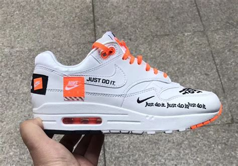 kaos nike just do it 1 nike air max 1 just do it white orange sneakerfiles