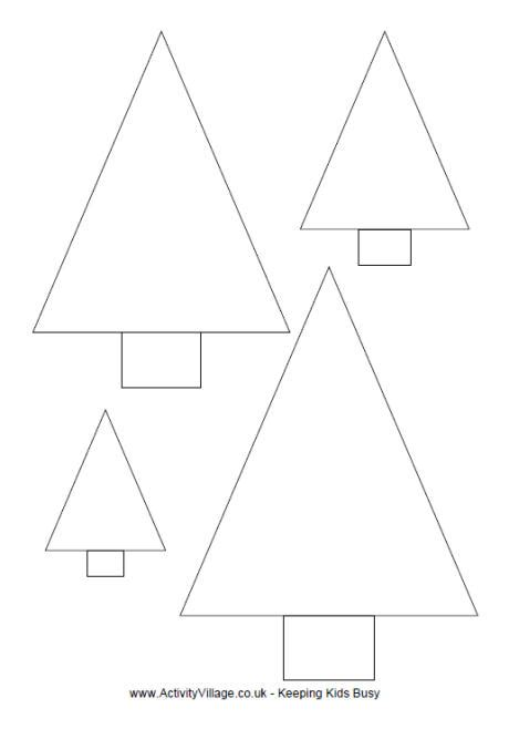 search results for christmas tree template printable