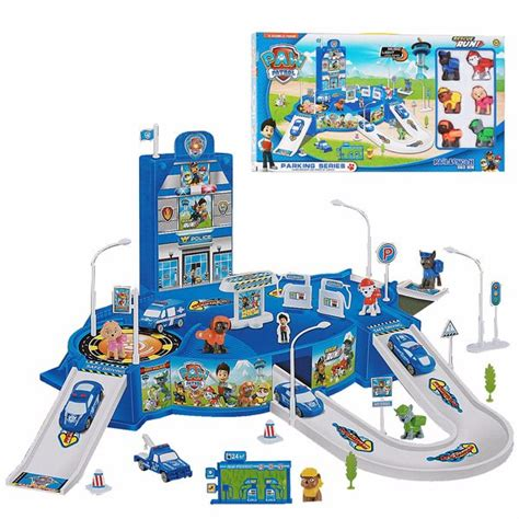 Mainan Edukasi Anak Track Seluncuran Paw Patrol Parking Lot Winter jual beli anak berkreasi top paw patrol parking rescue
