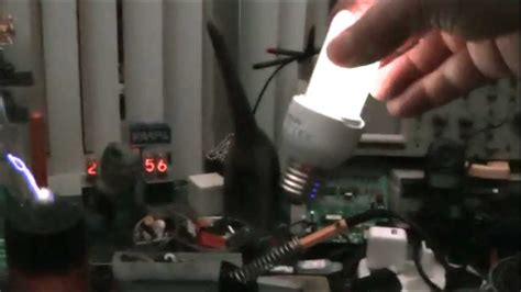 Tesla Bulb Wireless Spark Gap Tesla Coil Wireless Electricity Powers Light