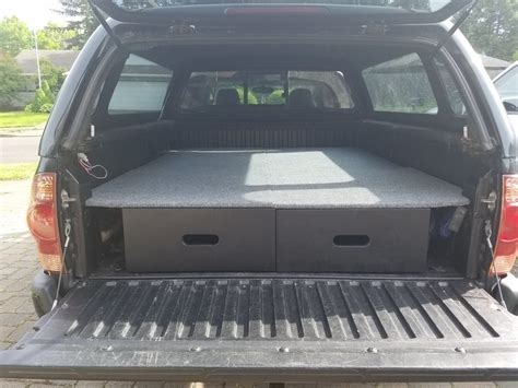 truck bed drawer system tacoma show us your truck bed sleeping platform drawer storage