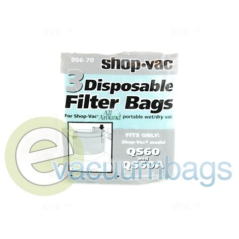 shop vac all around filter vacuum bags 906 70