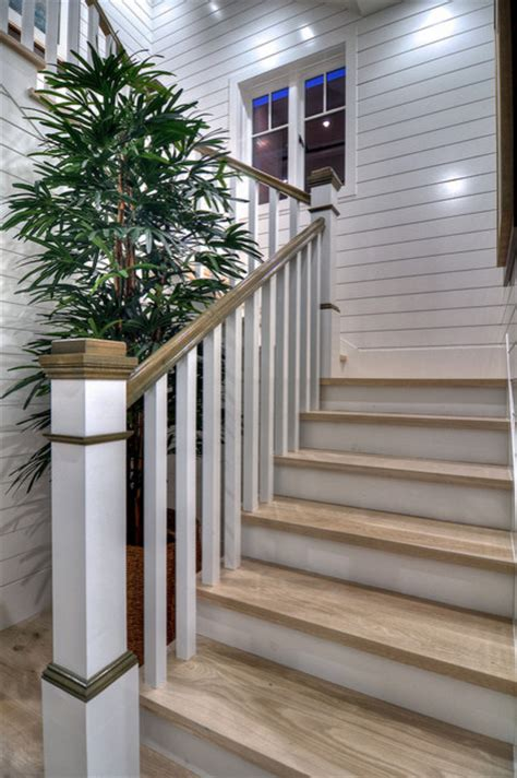 diamond beach cottage traditional staircase orange