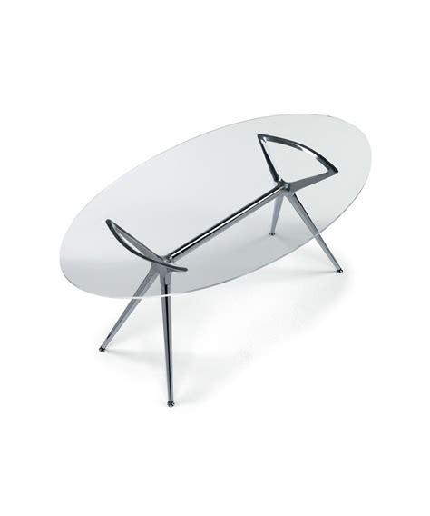 tavolo cristallo ovale scab design tavolo fisso ovale metropolis 180x100