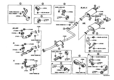 1999 toyota camry exhaust system diagram diagram 0f 1993 toyota corolla exhaust system toyota