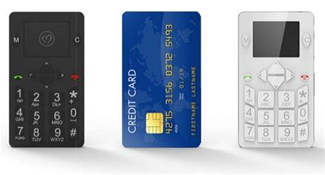 mobile phone cards micro phone credit card sized mobile wordlesstech