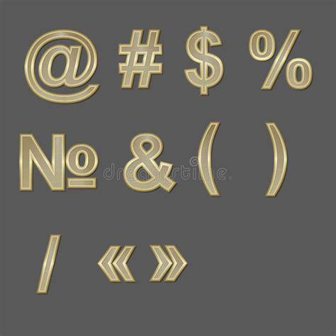 gold pattern font design elements gold 3d font symbols stock vector