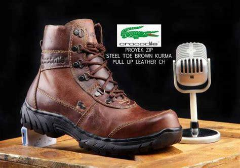 Sepatu Boots Pita Crocodile Safety jual sepatu boot safety kulit crocodile kulit asli blostore bandung