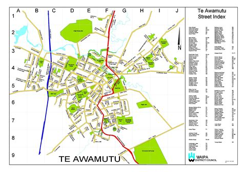 printable version google maps street map of te awamutu print version