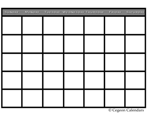 free blank monthly calendar template july large monthly calendars print blank calendars