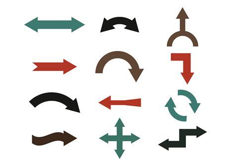 vector free arrow colorful vector set free vector