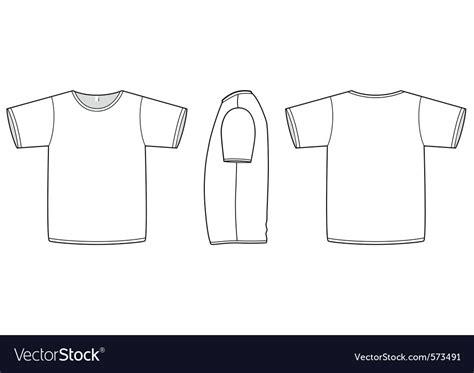 Basic Unisex Tshirt Template Royalty Free Vector Image Blank Sleeve T Shirt Template