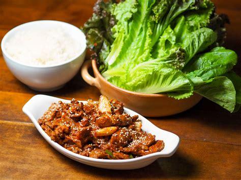 korean stir fried pork  chili marinade