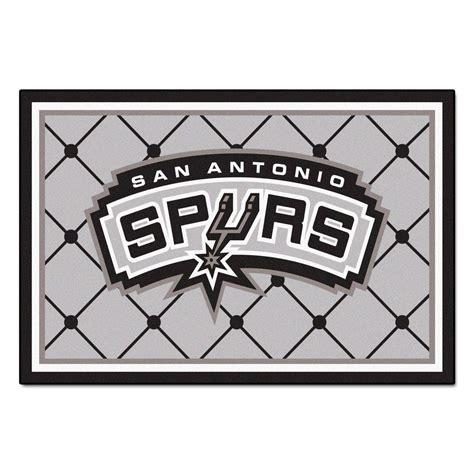 Fanmats San Antonio Spurs 5 Ft X 8 Ft Area Rug 9403 Area Rugs San Antonio