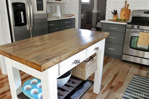 wood top kitchen island diy kitchen island from unfinished furniture to