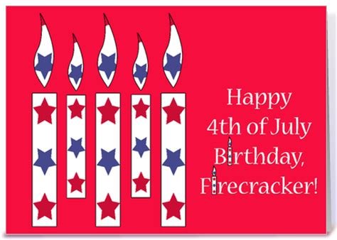 Happy Birthday 4th July Cards Fourth Of July Birthday Greetings 4th Of July Birthday