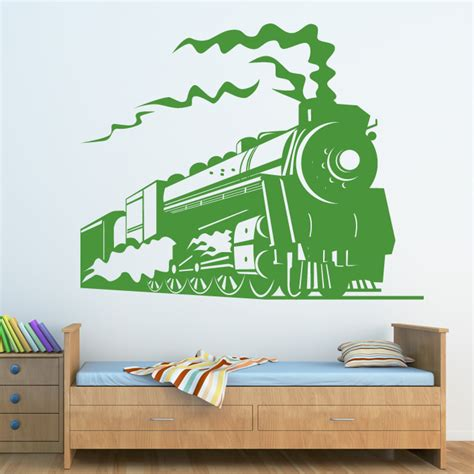 Train Wall Stickers steam train side view wall art stickers wall decals