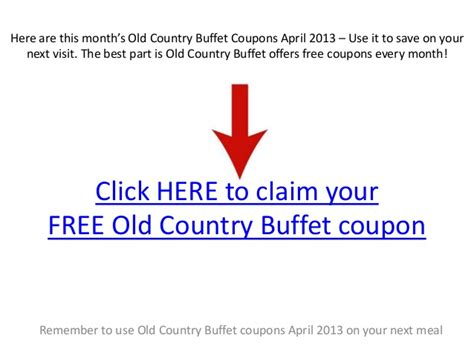old country buffet coupons april 2013