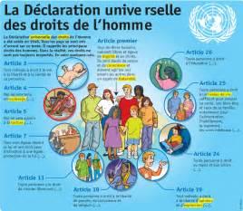 les droits de lhomme 2220081443 la d 201 claration universelle des droits de l homme bonjour les 233 l 232 ves