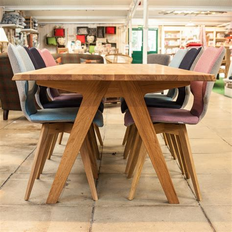 Oak Dining Table Uk Delta Oak Dining Table