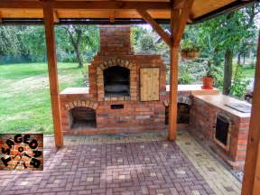 How To Build A Pergola Youtube by Diy Building Outdoor Fireplace With Smoker And Grill Amp Bbq