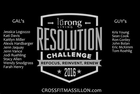 lurong living challenge crossfit massillon lurong living resolution challenge
